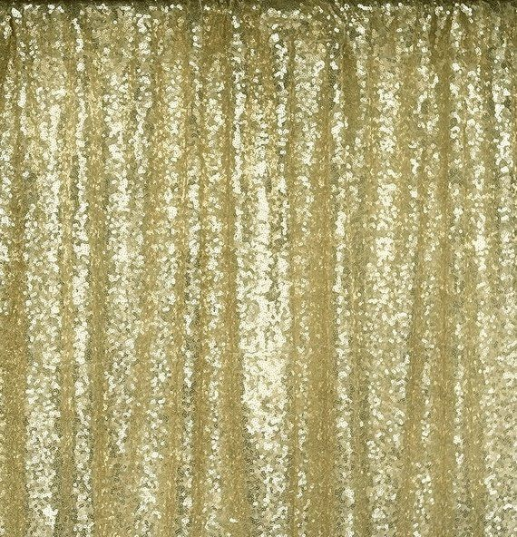 Lt Gold Gold Wedding Sequins Backdrop 4ft Wx 8ft L Photo Booth