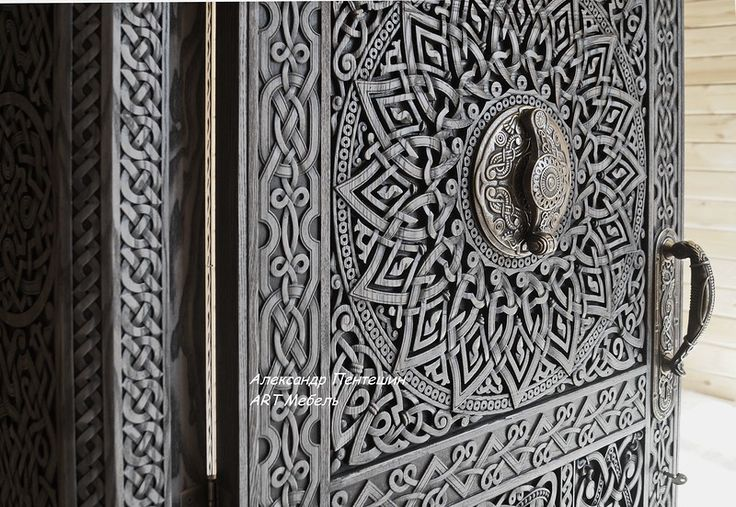 дверь с резьбой, фурнитура для двери