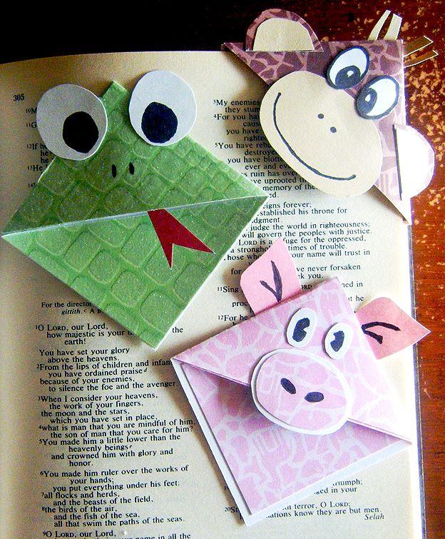 Marca páginas de bichinhos com moldes - Pra Gente Miúda