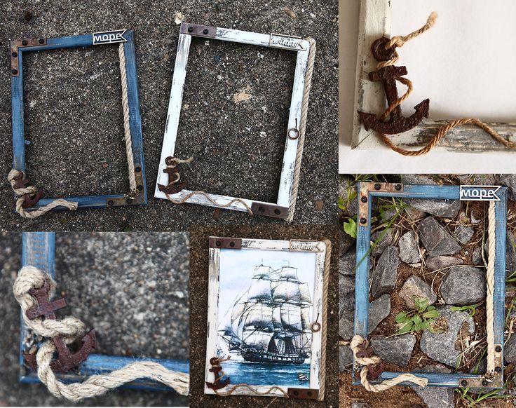 Для романтиков,влюбленных в море. БОЦМАНСКАЯ фоторамка.  Лофт. Морской стиль в интерьере.