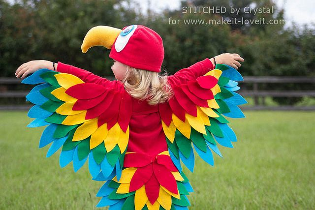 STITCHED by Crystal: Easy Parrot Costume