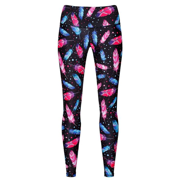 Tikiboo Space Feather Leggings £35.99 #Activewear #Gymwear #FitnessLeggings #Leggings #Tikiboo #Running #Yoga