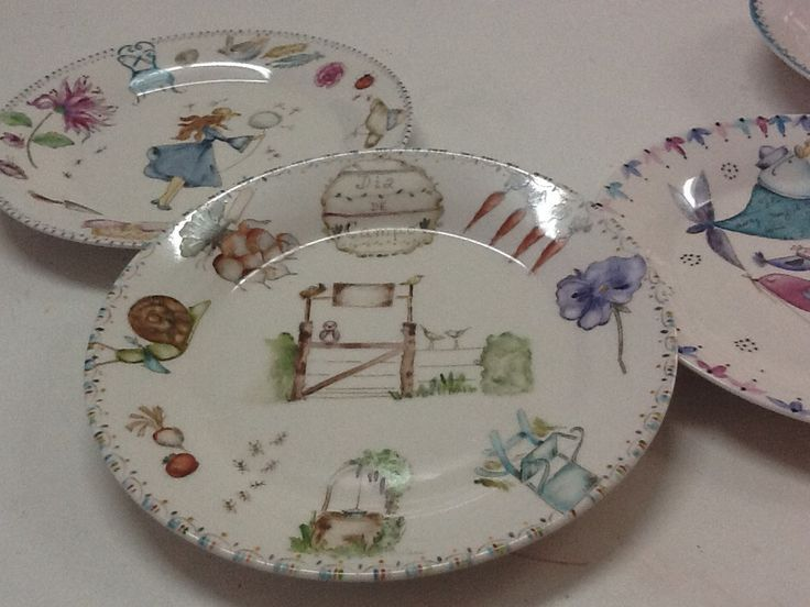 Platos | Pintura En porcelana | Pinterest