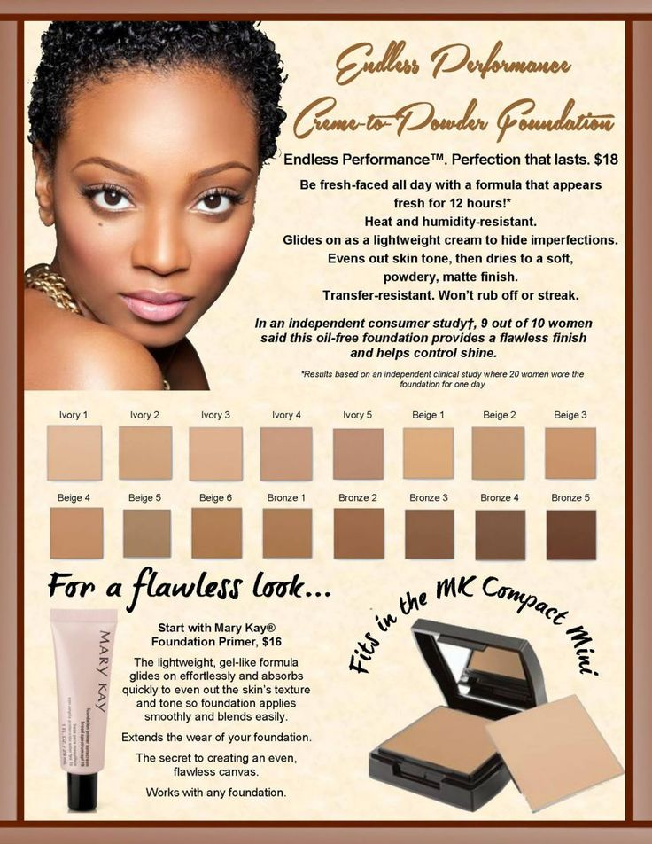 Try the New Mary Kay Endless Performance Cream-to-Powder Foundation! Get your shade matched with a complimentary facial today! Email mrobins2749@marylay.com to book!