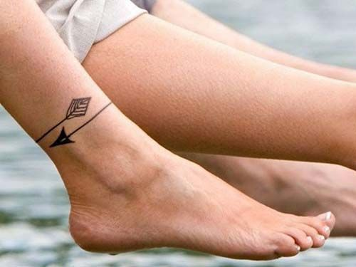 ankle arrow tattoo ayak bileği ok dövmesi
