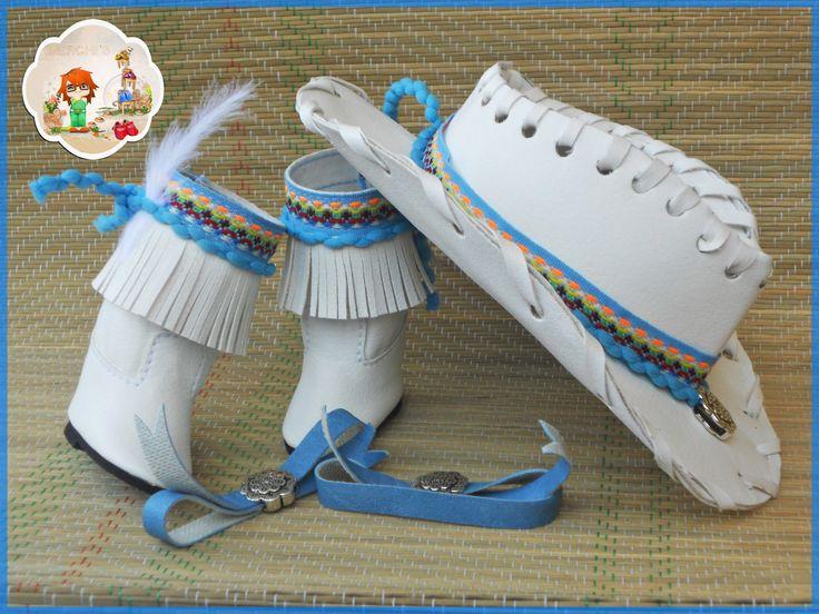 Conjunto blanco, decoración tonos azules