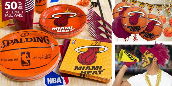Miami Heat Party Supplies - Party City