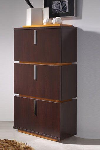 Mueble moderno con tres compartimentos para almacenar for Muebles para almacenar