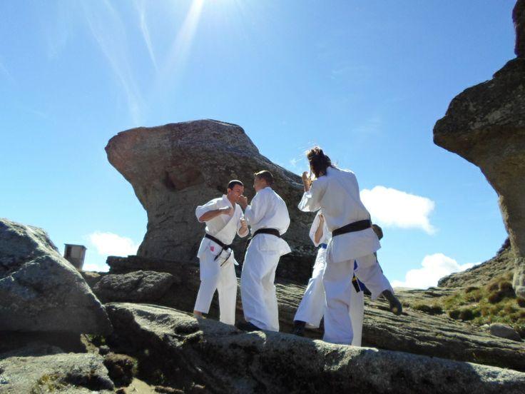 Antrenament Karate Kyokushin in Muntii Bucegi - Kumite