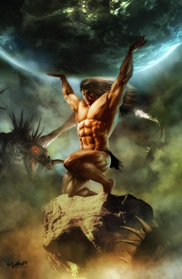 atlas, was the primordial Titan who held up the celestial spheres. He is also the titan of astronomy and navigation.