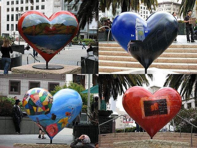 Union Square, San Francisco, CA. -- I can't wait to see these beautiful heart sculptures!