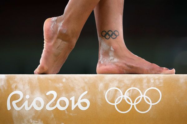Becky Downie (Great Britain) during a Gymnastics training session on August 4, 2016