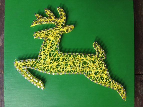John Deere string art jumping deer string art by SouthernDragonfly