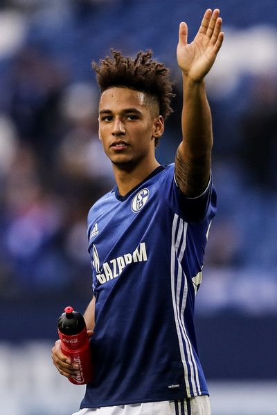 Thilo Kehrer of Schalke celebrates after the Bundesliga match between FC Schalke 04 and FC Augsburg at Veltins-Arena on March 12, 2017 in Gelsenkirchen, Germany.