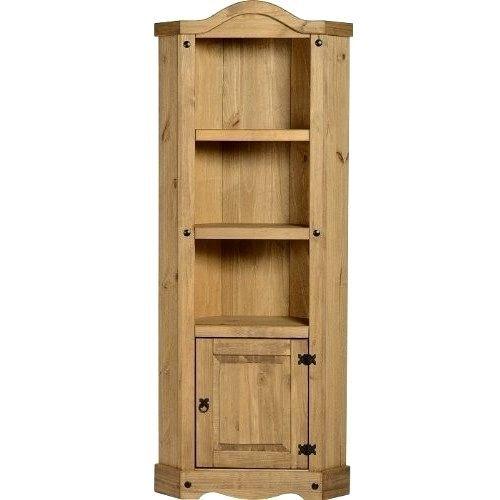 Wooden Corner Unit 3 Shelf Display Rustic Furniture Solid Pine Kitchen Storage