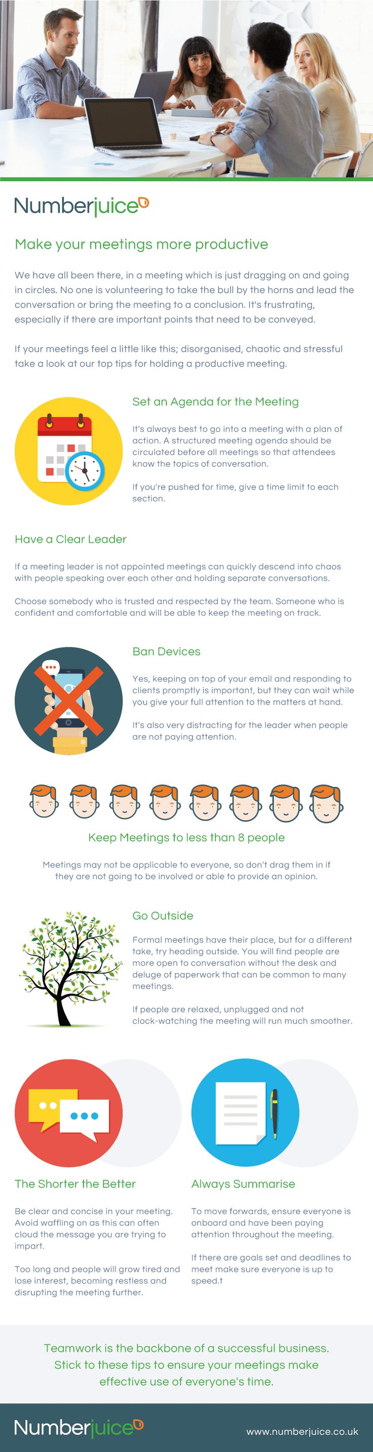 Infographic - How to make meetings more productive