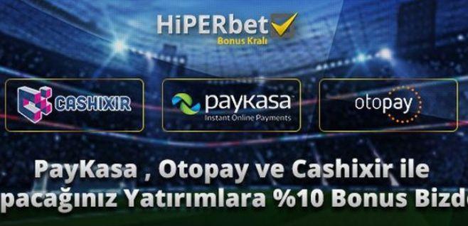 Spor bahislerinde ve casino oyunlarında kullanıcılarına sunduğu bonus ve promosyon kampanyaları ile sınırsız bahis heyecanını yaşatan Hiperbet`te en yüksek bonus ve kampanyalar yer alıyor. Hiperbet yeni kullanıcılarına özel ilk para yatırım işlemlerinin ardından 600TL'ye kadar ilk üyelik bonusu yer alıyor. Bu bonus kampanyasından bvahis almaya başlamak için yağacağınız ilk para yatırımına özel %100 oranında yararlanabilirsiniz, …
