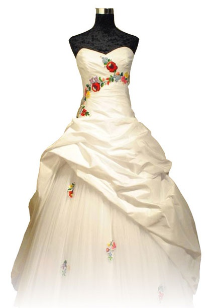 Kalocsai pattern wedding dress!