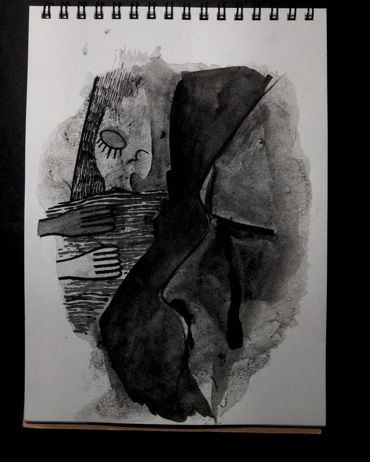 Esorcismi vari  #abstract #gouache #paint #instaart #lucabraidottipaint #blackandwhite #draw #sketchbook