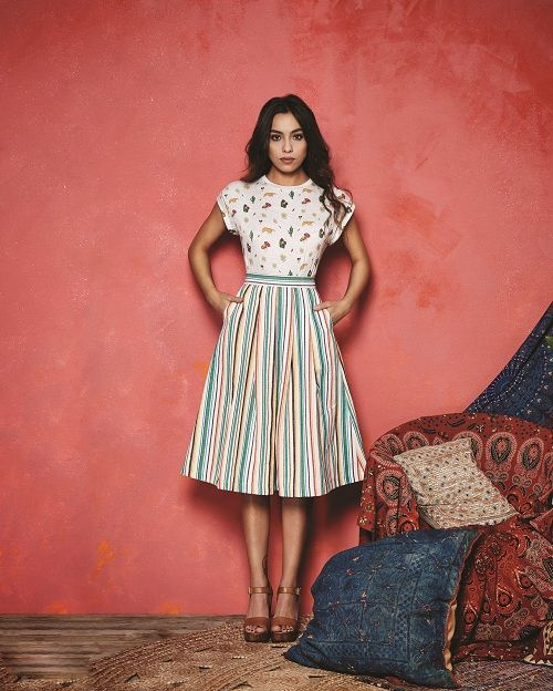 Valley of the Dolls Arwen Mexico T-Shirt and Pasadena Stripe Skirt