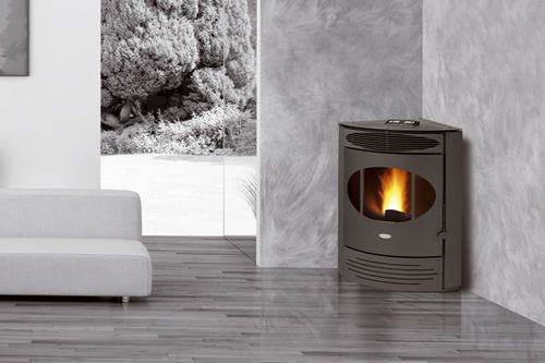 Contemporary Corner Pellet Wood Stove X12 Fair Stove