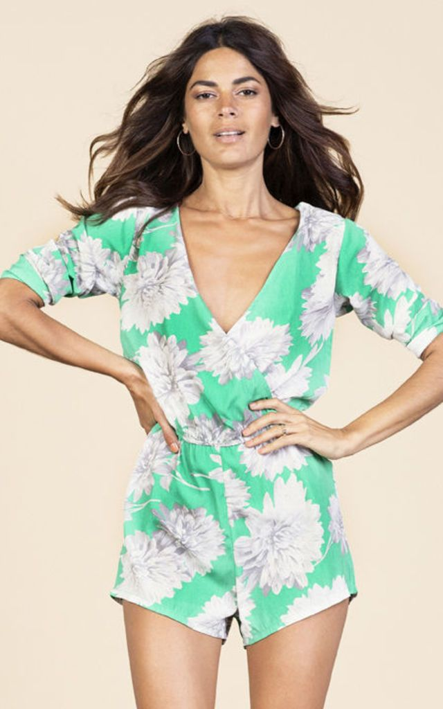 Click to view Tiago Playsuit in Green Bloom