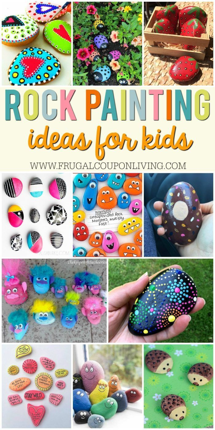 DIY Craft: Rock Painting Ideas for Kids on Frugal Coupon Living. My Town Rocks Rock Painting Ideas.