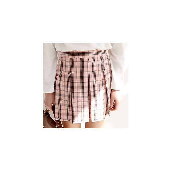 Plaid Mini Pleated Skirt ($44) ❤ liked on Polyvore featuring skirts, mini skirts, women, tartan pleated mini skirt, tartan pleated skirt, pink pleated skirt, plaid pleated skirts and pleated skirt