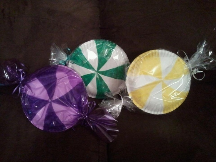 Candy made from paper plates for Candy Land party | Girls ...