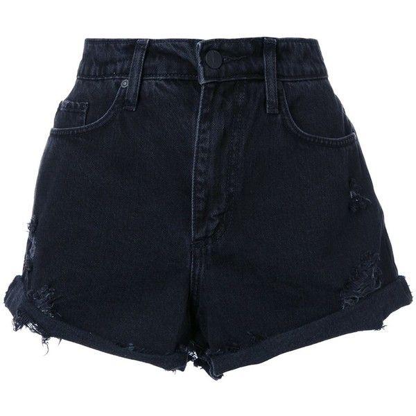 Nobody Denim Skyline Short Abyss (1 240 SEK) ❤ liked on Polyvore featuring shorts, bottoms, short, pants, black, high-waisted shorts, high-rise shorts, high rise shorts, short cotton shorts and highwaist shorts