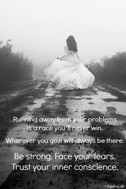 Running away from your problems