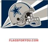 DALLAS COWBOYS HELMET DESIGN 3X5 FLAG - 1 left