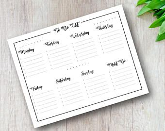 TO DO TODAY WEEKLY PLANNER
