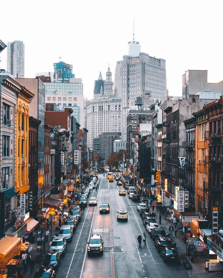 """NYC: """"East Broadway, as photographed from the Manhattan Bridge."""