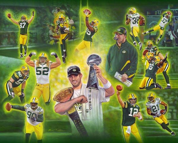 Green Bay Packers Clip Art | New Green Bay Packer Prints!!!
