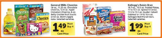 General Mills Cereal $0.99 en Walmart y Tom Thumb!!