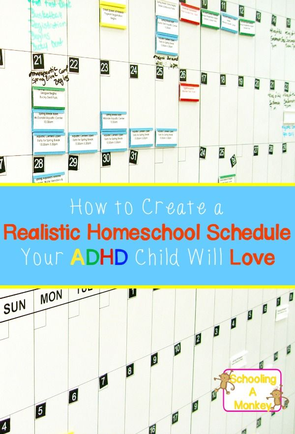 Homeschooling ADHD requires different lesson plans. If your child has ADHD, use these homeschool planning tips to create a realistic homeschool schedule.
