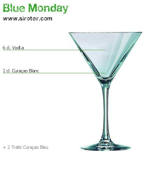 Recette Cocktail BLUE MONDAY