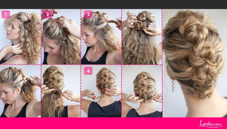penteado cabelo cacheado trança - Google Search