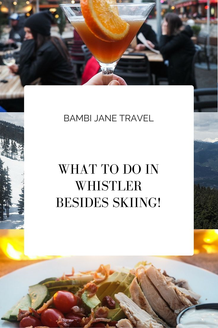 What to do in Whistler. No ski poles in sight.   #Travel, #Whistler, #Canada