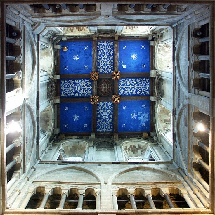 Wimborne Minster Tower Ceiling, Wimborne Minster dates from 705AD. Dorset, England