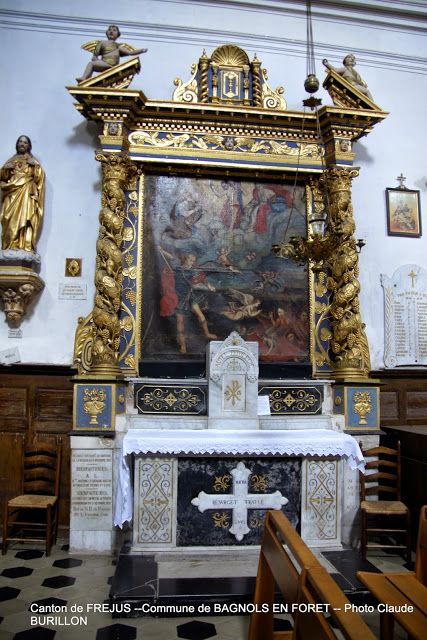 Retable église St-Antonin