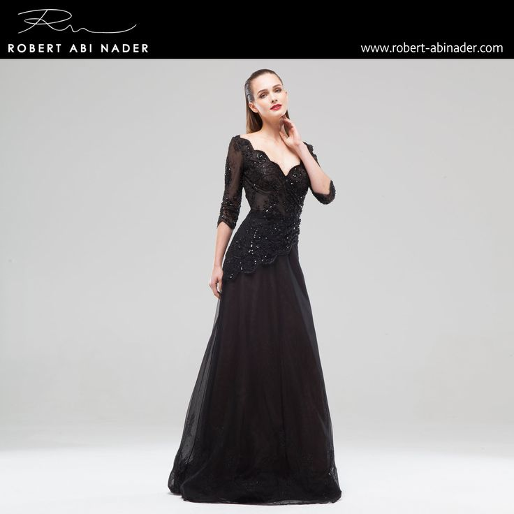 Robert Abi Nader - Ready to Wear - Spring Summer 2015 Long and fitted flared dress in black iridescent lace and tulle. #robertabinader #readytowear #dress #lace #black #wb #crepe #guipure #moroccan #crep #embroidered #skin #tulle #fashionista #stylish #springsummer #lebanon #paris #london #beirut #princess #beauty #beautiful
