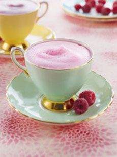 A pretty modern twist on raspberry flummery...