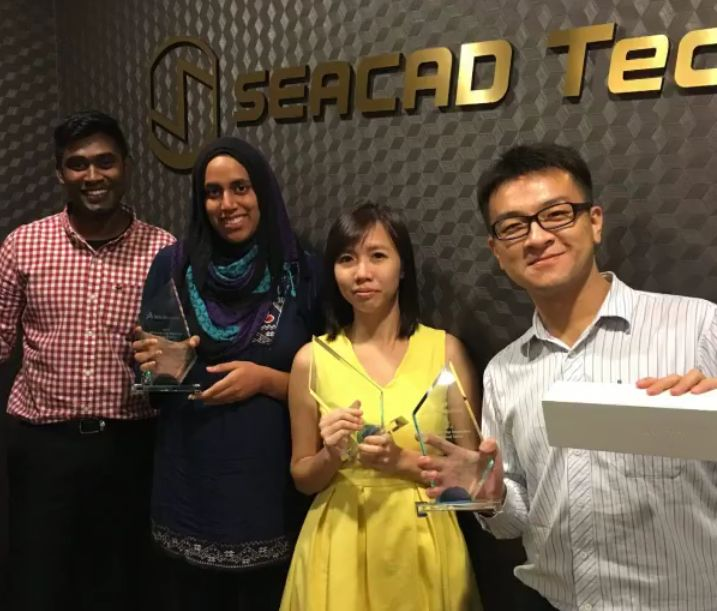 Congratulations to SEACAD, we have done it again! We stole the limelight for SOLIDWORKS 2016 AP South VAR Kickoff, received the most number of awards in just one night. 2015 (AP South) - Top Multi Product Growth VAR (SEACAD) - Top Simulation Technical Sales (Vishnu) - Top Electrical Technical Sales (Shivanka) - Top Inspection Technical Sales (Mi Le) - Best Customized Demo (Mi Le) - Top Sales Rookie SEA (Adelyn) - Top Electrical Sales (Adelyn)