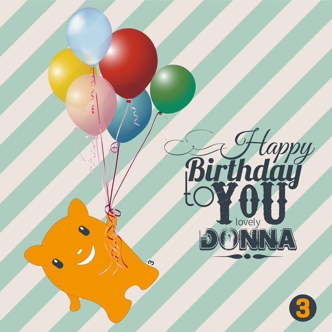 Happy Birthday Donna. Love Fergus X