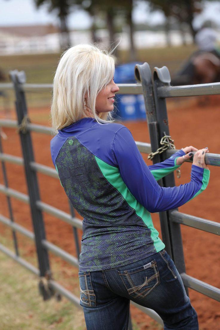 Western Shirts : Purple ATHLETIC Pullover - Cruel Girl BACK CWK9856001 BLU