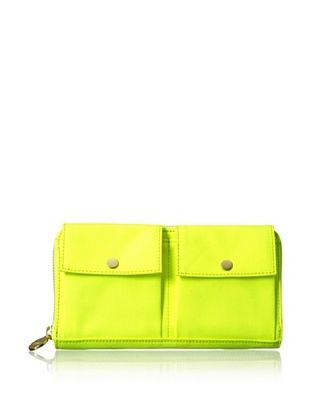 36% OFF Kate Spade Saturday Women's Canvas Two Pocket Wallet, Neon/Lime