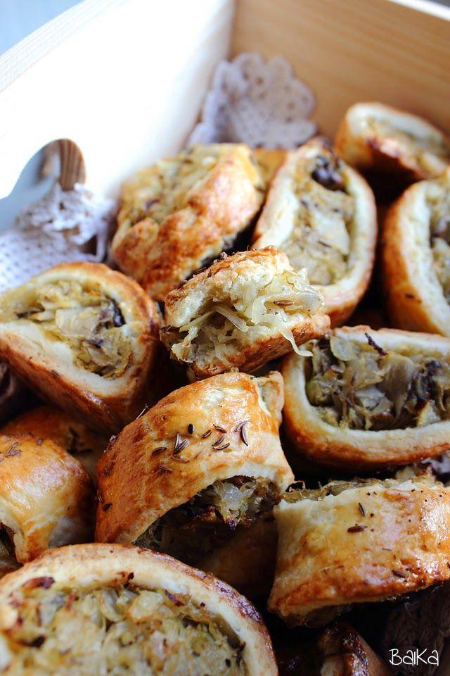 BAiKA w Kuchni: Kapuśniaczki krucho-drożdżowe