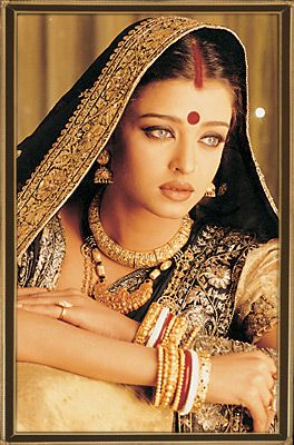 Aishwarya in Devdas - Bollywood Actress, but still wearing traditional attire.